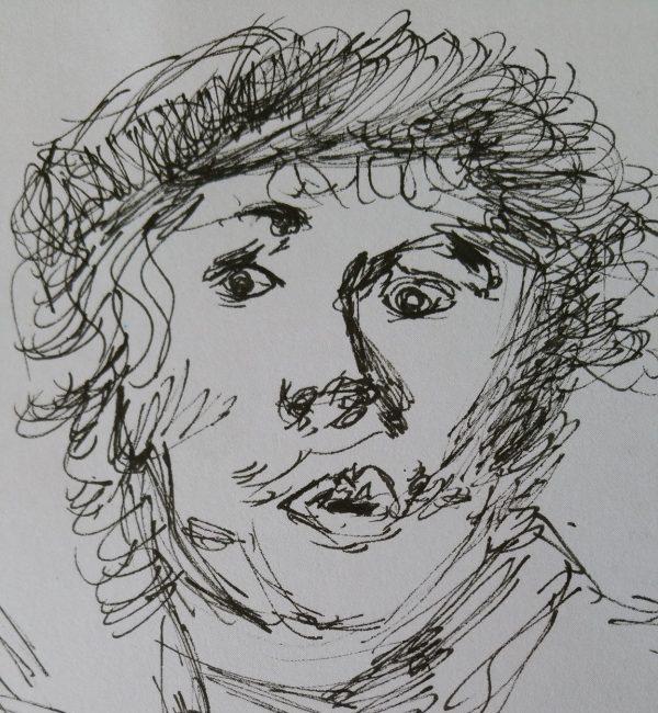 Rembrandt eigen pentekening Lenie van der Zande